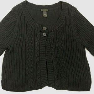 Lane Bryant 18/20 Black Knit Sweater Cardigan
